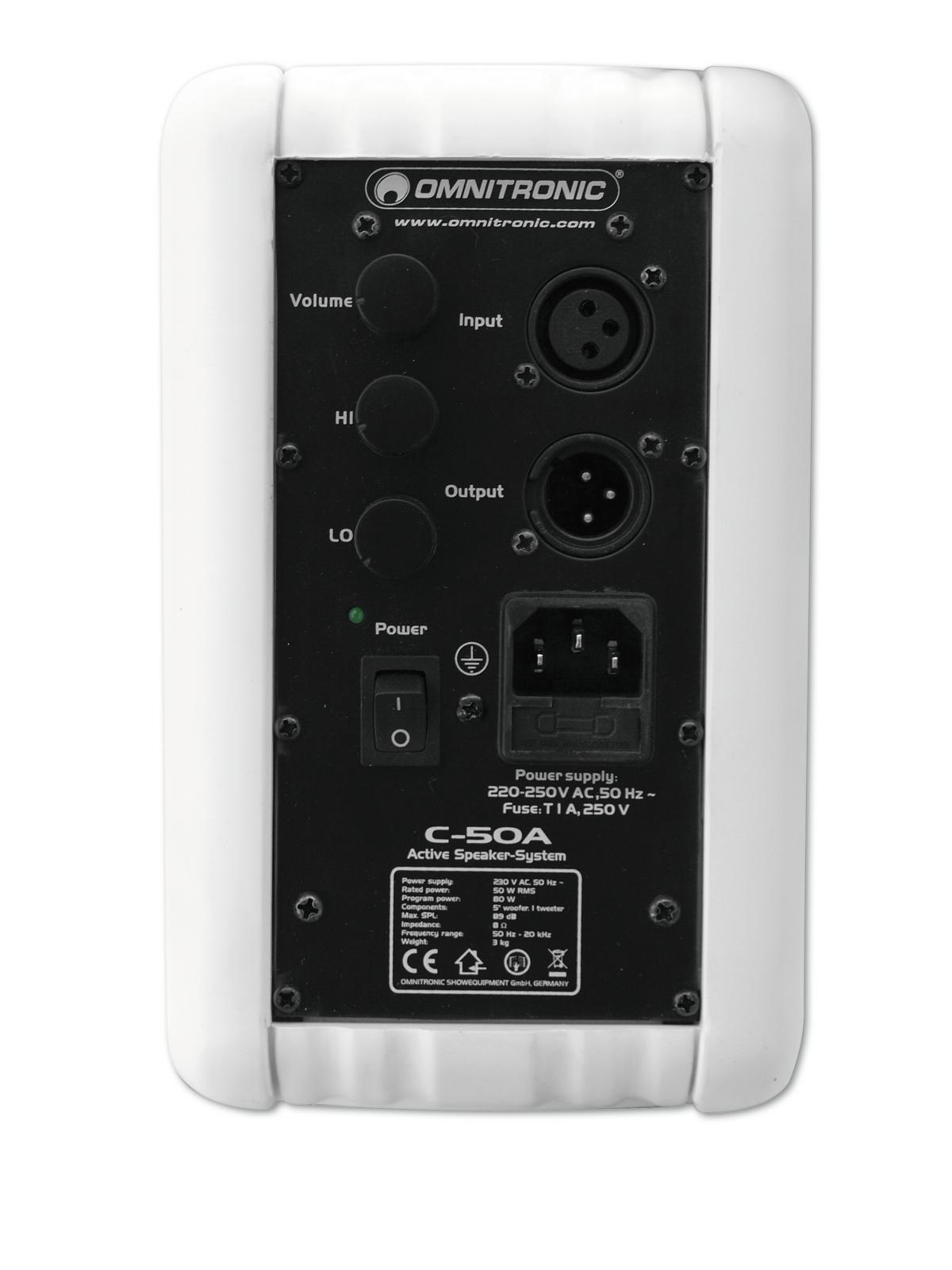 OMNITRONIC C-50A aktiv weiß 2x
