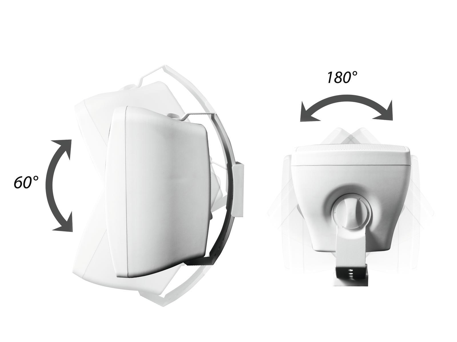 OMNITRONIC OD-4T Wandlautsprecher 100V weiß 2x