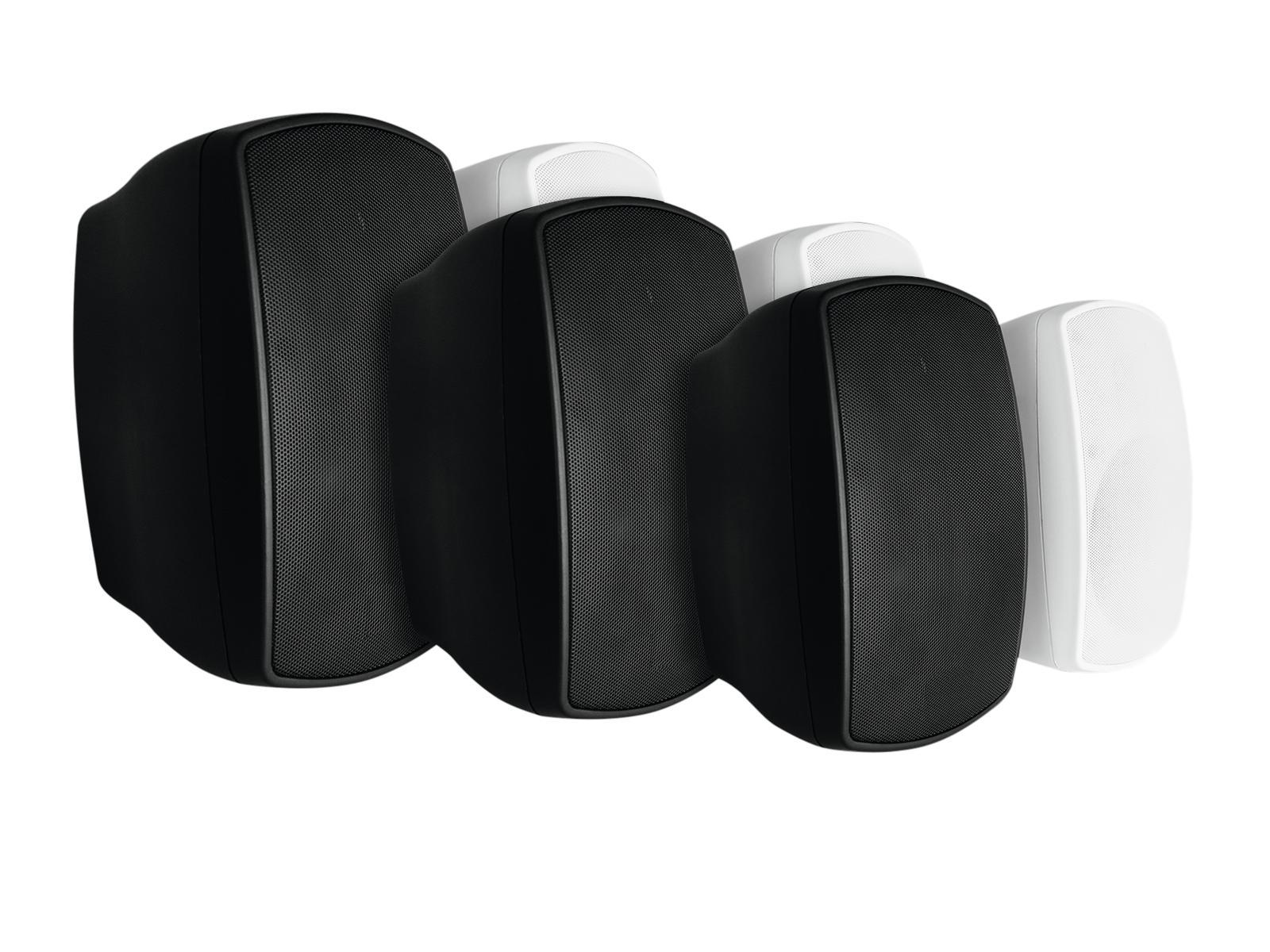 OMNITRONIC OD-5 Wandlautsprecher 8Ohm schwarz 2x