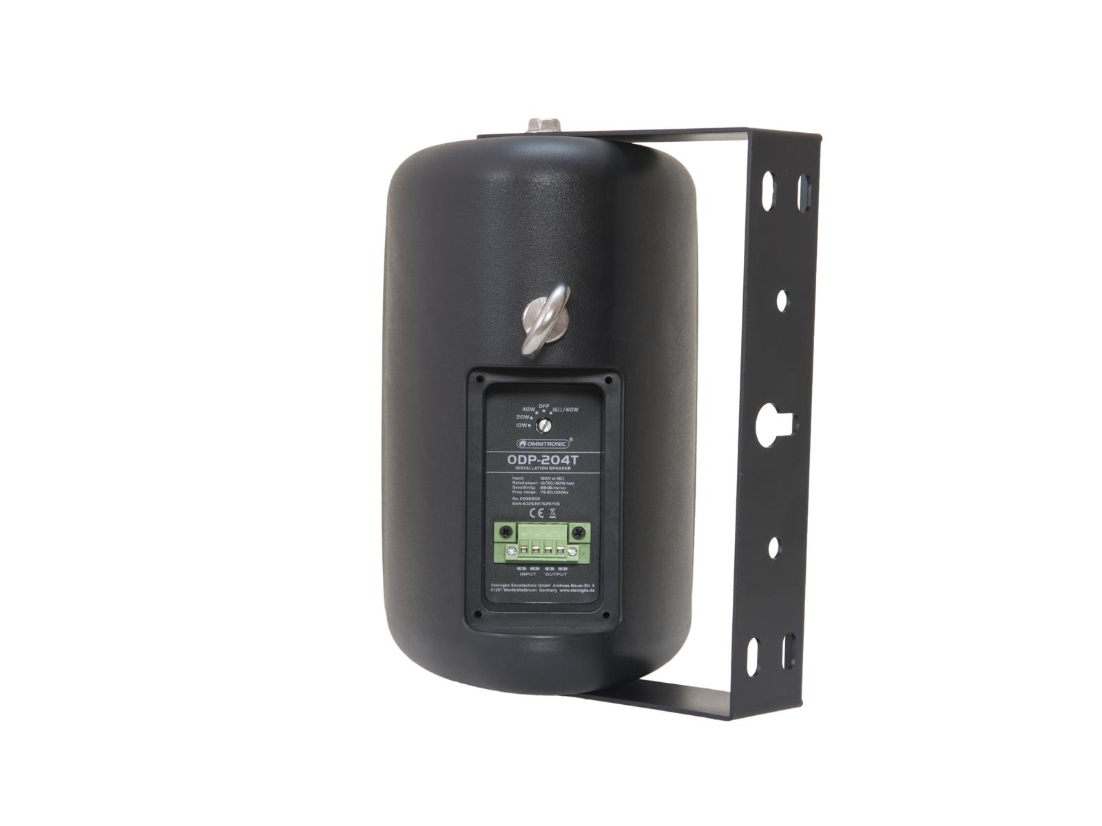 OMNITRONIC ODP-204T Installationslautsprecher 100V schwarz 2x