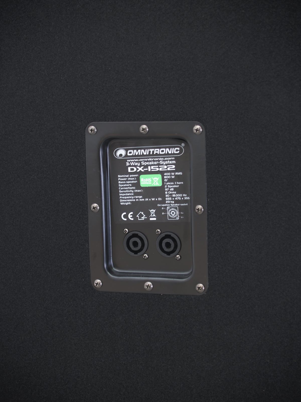 OMNITRONIC DX-1522 3-Wege Box 800 W