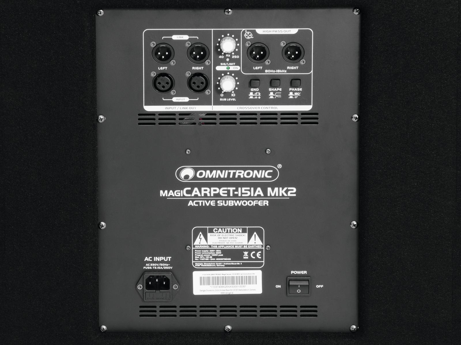 OMNITRONIC MagiCarpet-151A MK2 Aktivsubwoofer