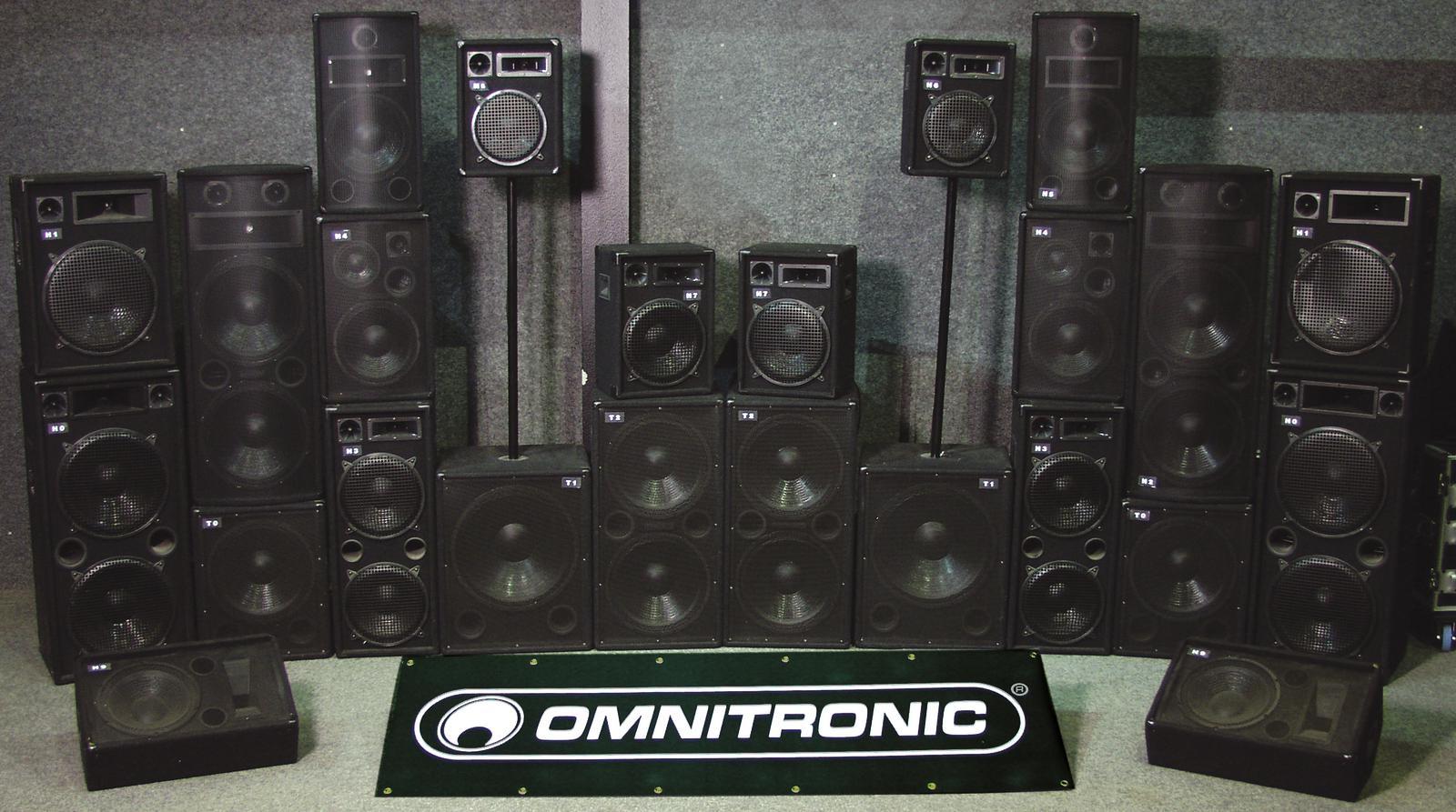 OMNITRONIC TX-2520 3-Wege-Box 1400W