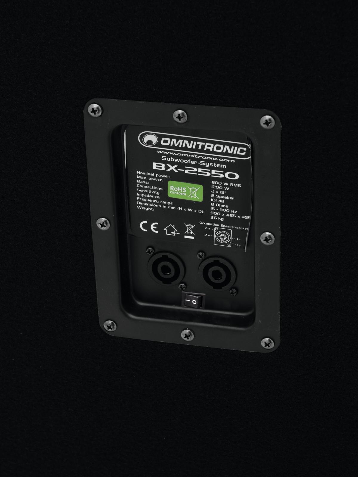 OMNITRONIC BX-2550 Subwoofer 1200W
