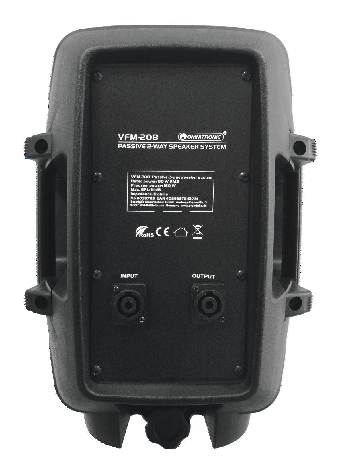 OMNITRONIC VFM-208 2-Wege Lautsprecher