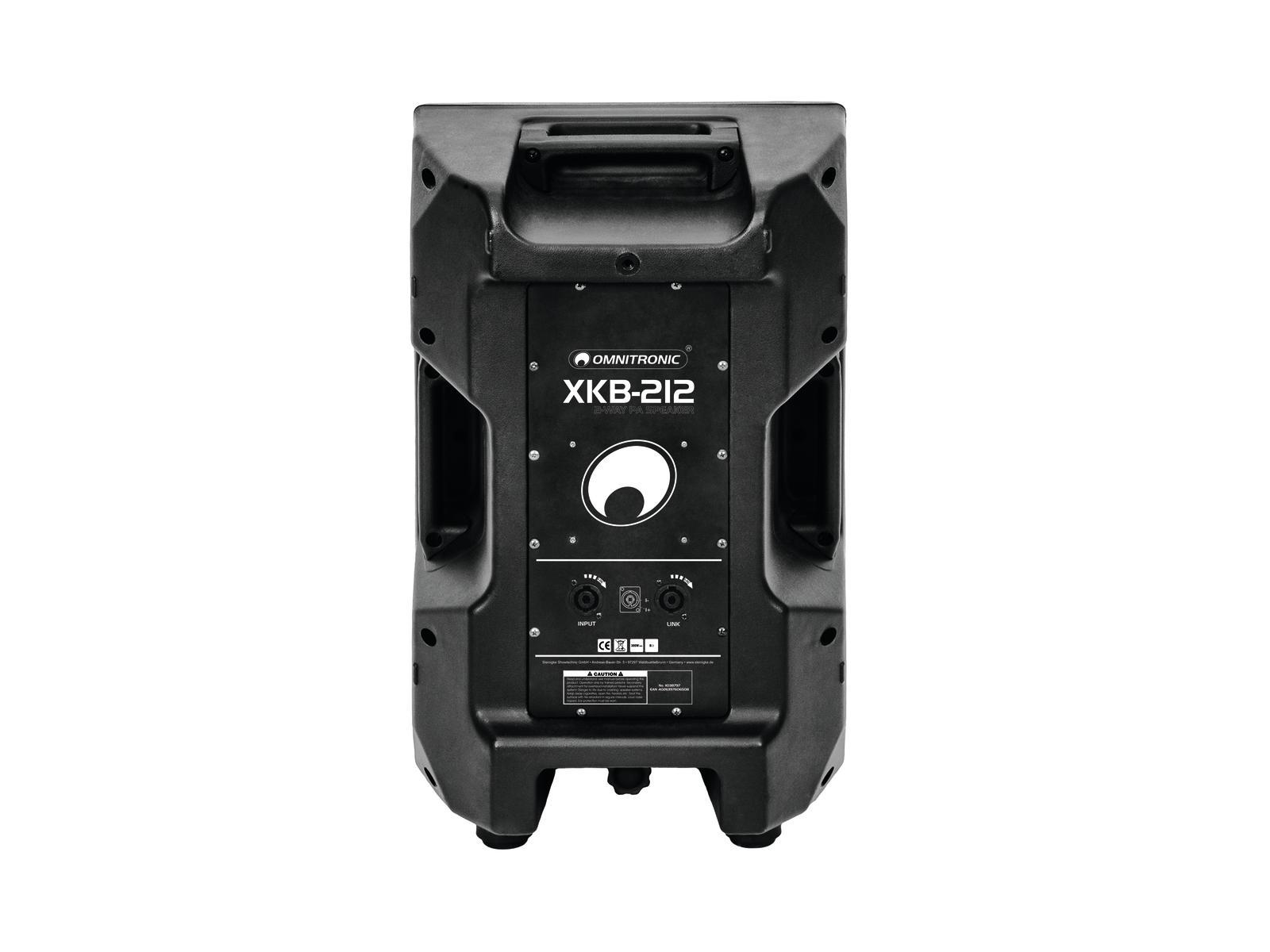 OMNITRONIC XKB-212 2-Wege Lautsprecher