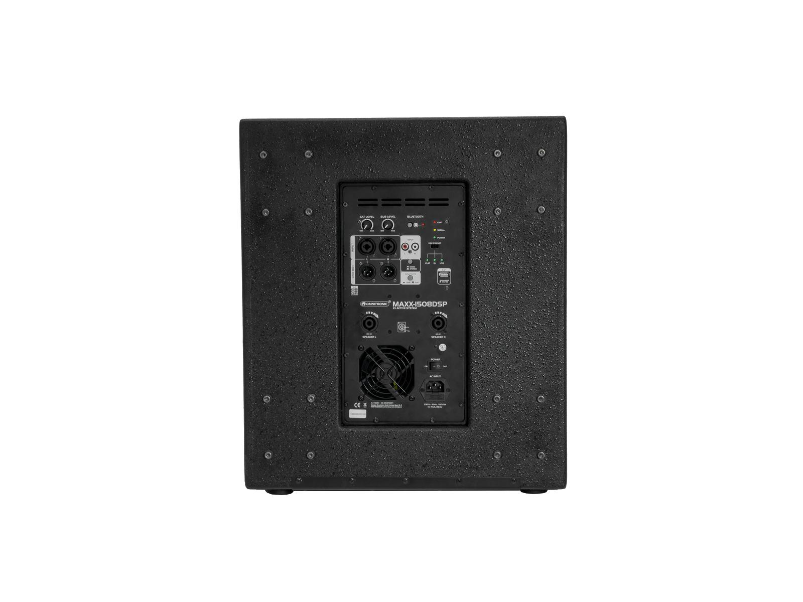 OMNITRONIC MAXX-1508DSP 2.1 Aktiv-Subwoofer