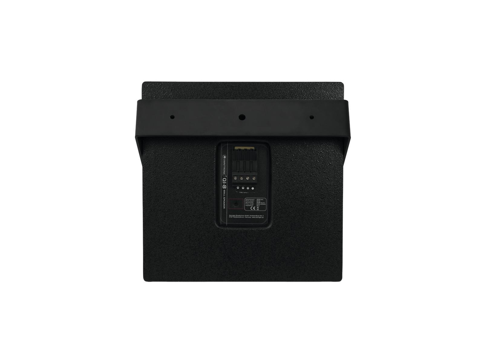 OMNITRONIC QI-8 Koaxial-Wandlautsprecher schwarz