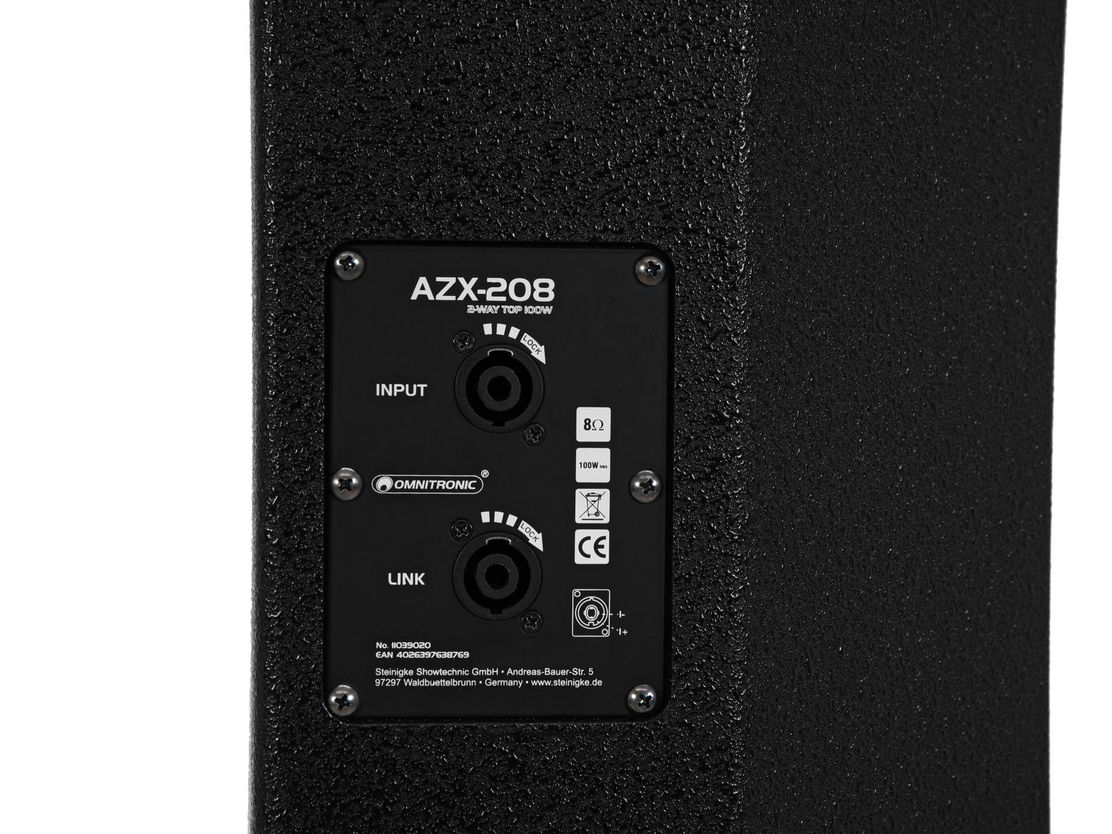 OMNITRONIC AZX-208 2-Wege Top 100W