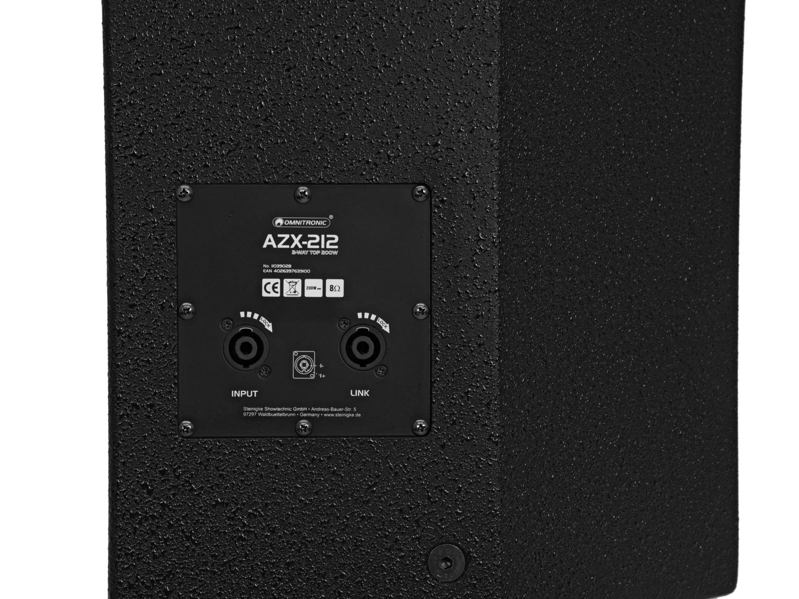 OMNITRONIC AZX-212 2-Wege Top 200W