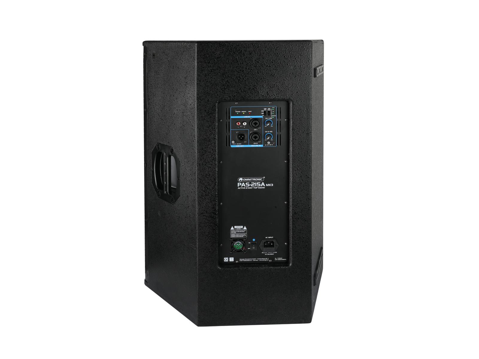 OMNITRONIC PAS-215A MK3 2-Wege-Top, aktiv, DSP