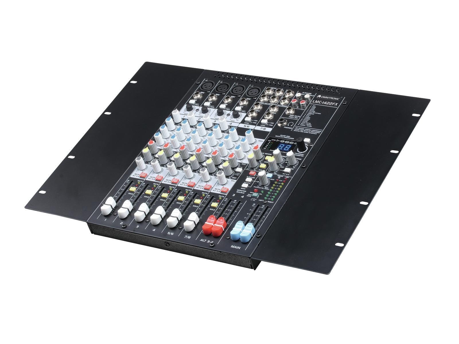 Mixer console dj usb-pc mac 8 channels OMNITRONIC LMC-1422FX