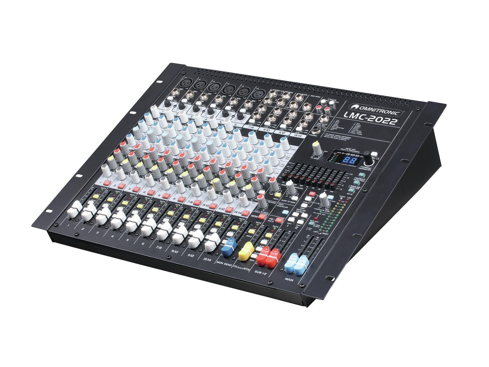 OMNITRONIC LMC-2022FX USB mixer