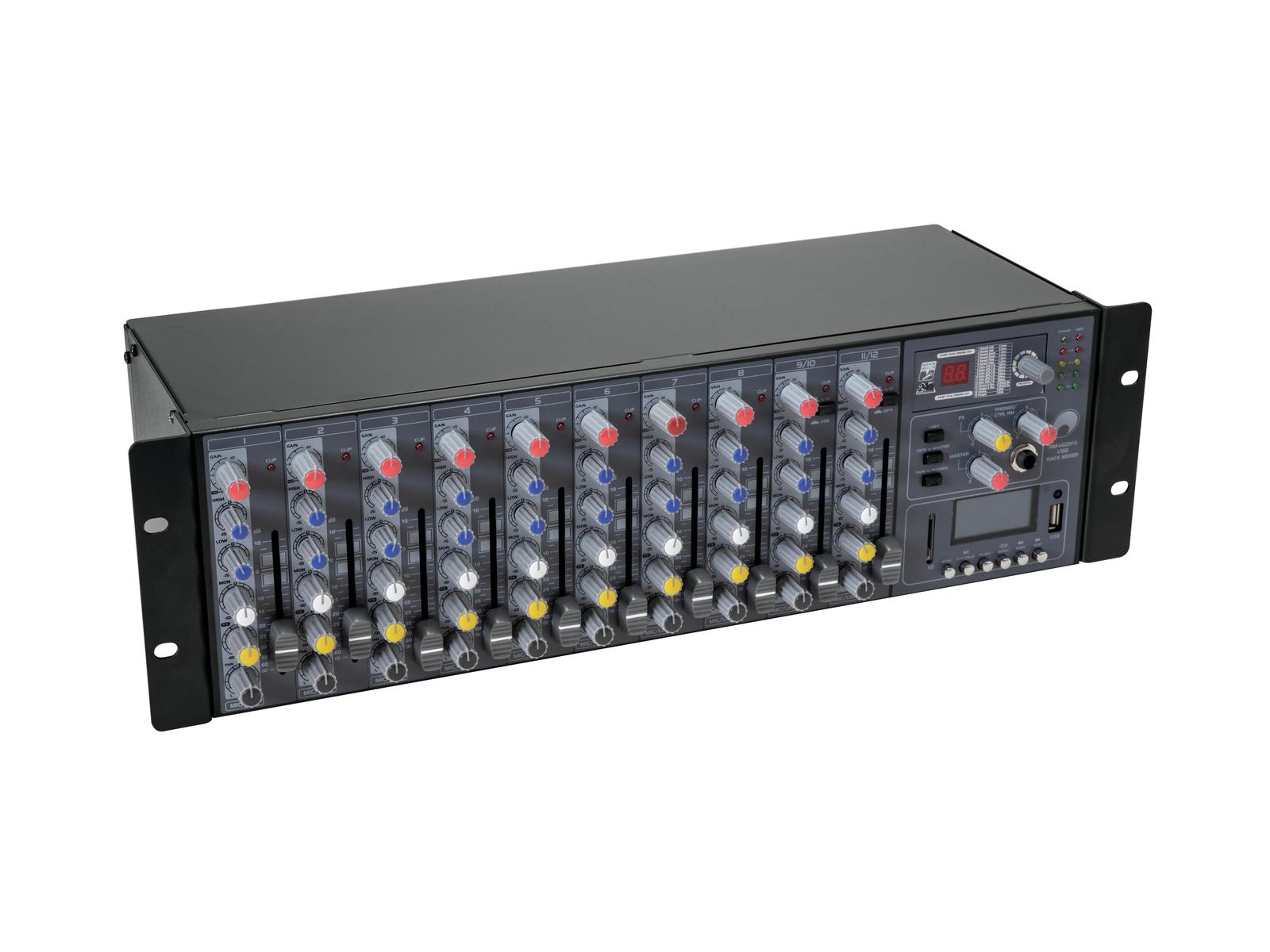 OMNITRONIC RM-1422FX USB Rack-Mixer