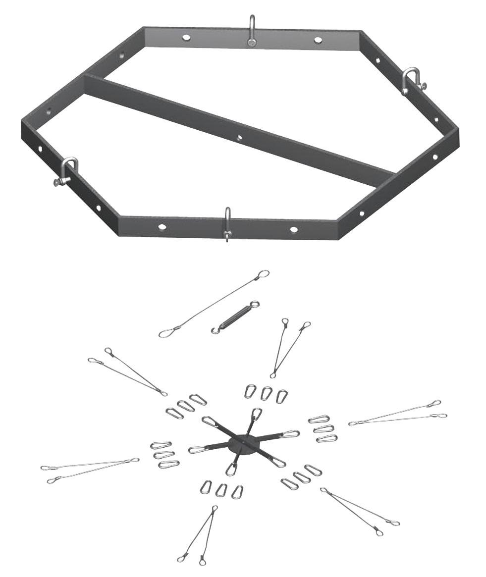 PSSO   staffa esagonale  per sistema completo line array  CSA/CSK