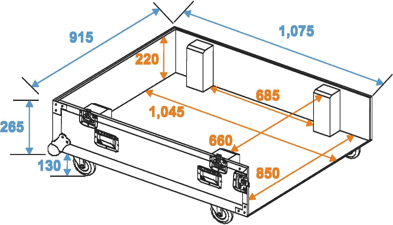 ROADINGER Flightcase 4x CLA-228
