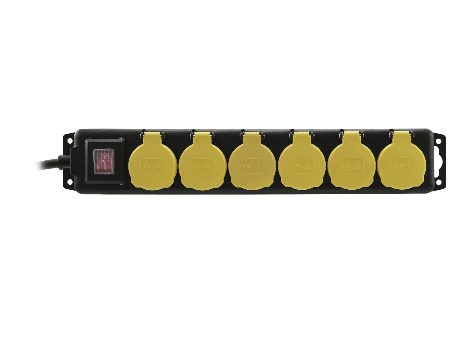 Power distributor EUROLITE with 6 sockets, 5M
