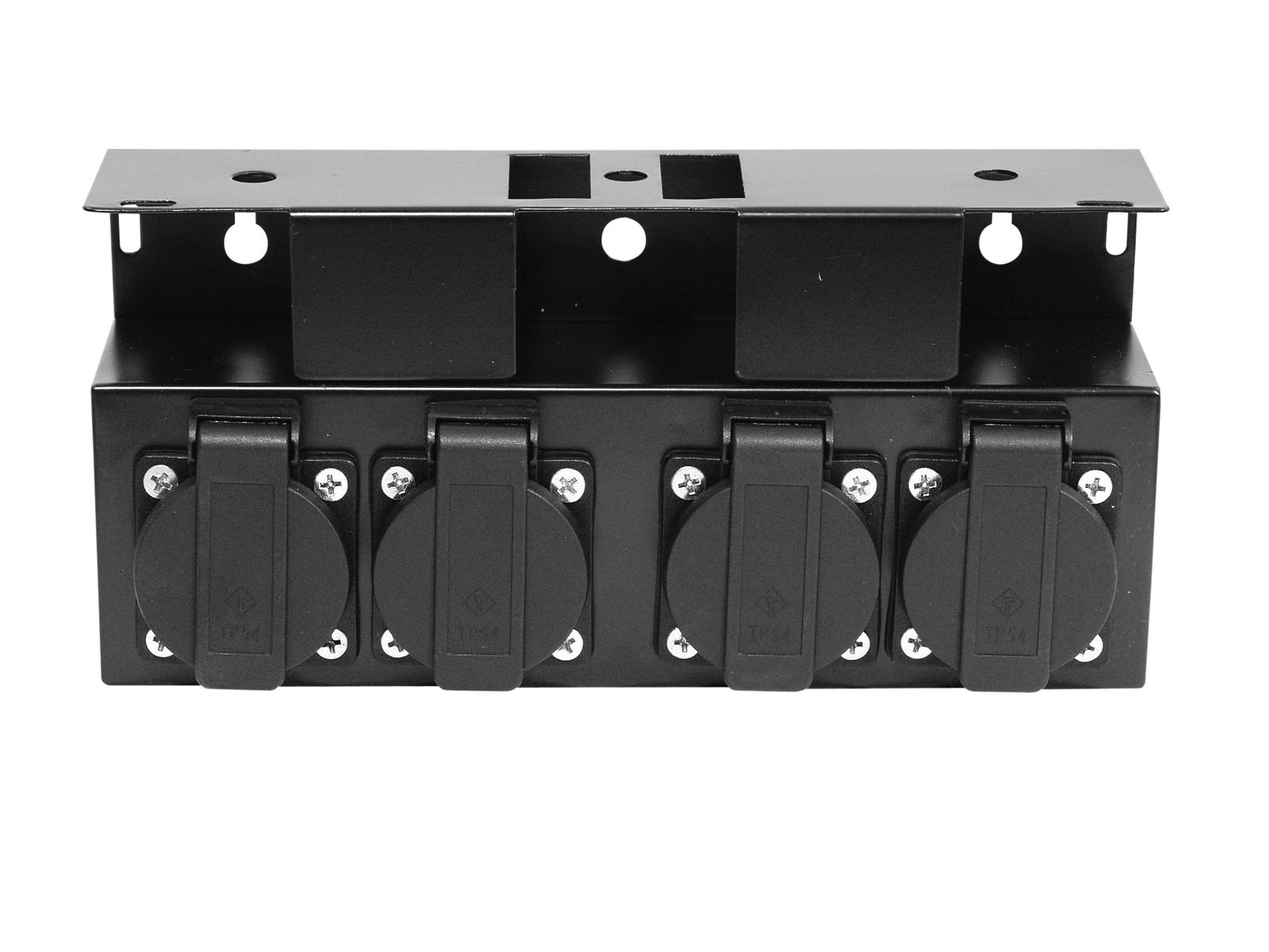 Power distributor EUROLITE with 4 outlets with safety cover