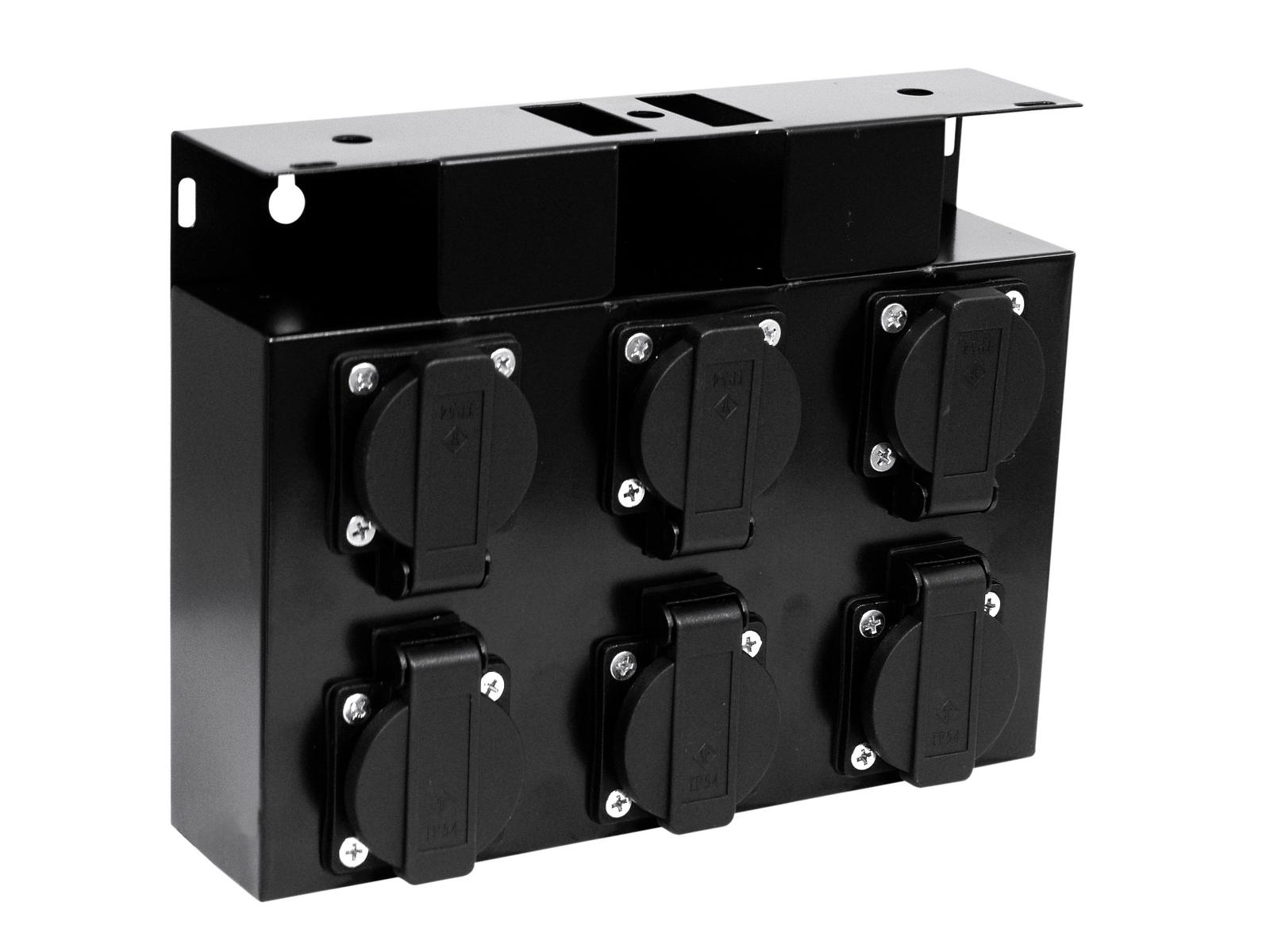 Power distributor EUROLITE 6 outlets safety without cables