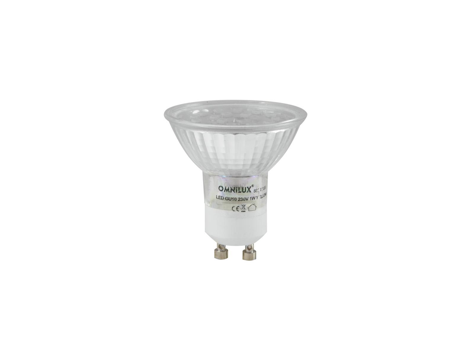 Lampada a led rosso GU-10 230V 18 OMNILUX