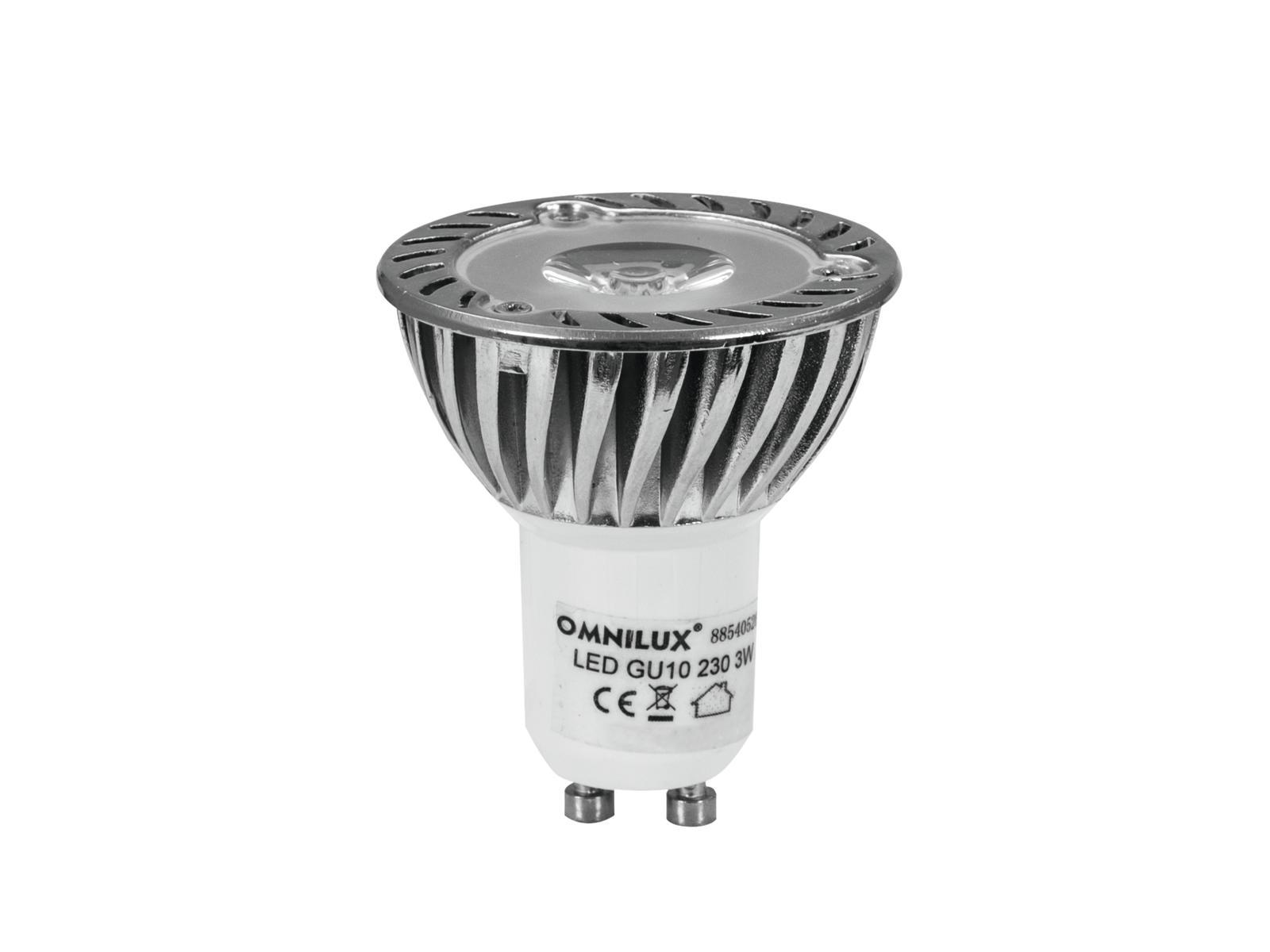Lampada a led rosso GU-10 230V 1x3W 3000K OMNILUX