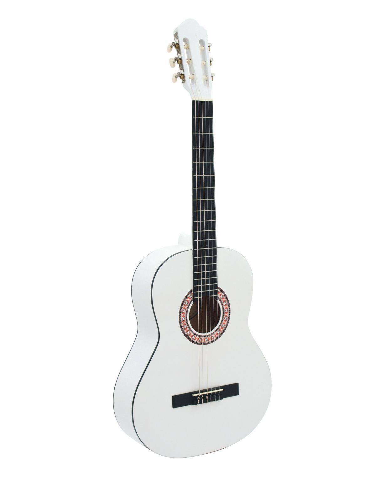 Chitarra Classica 4/4, colore bianco, DIMAVERY AC-303