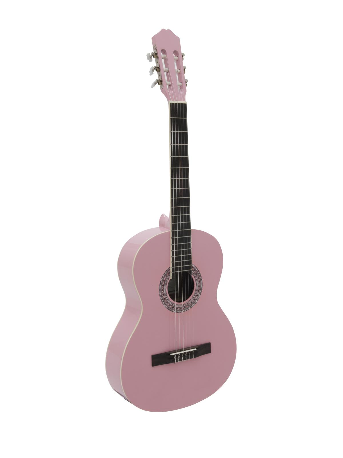 DIMAVERY AC-303 Klassikgitarre, pink