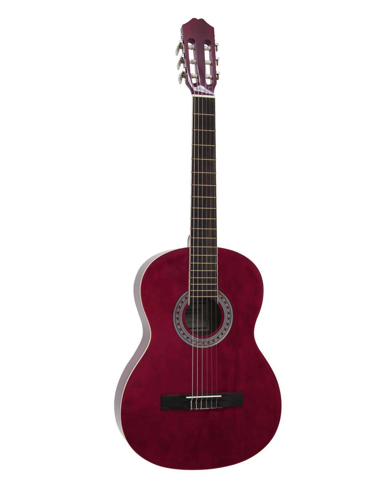 DIMAVERY AC-303 Klassikgitarre, rot