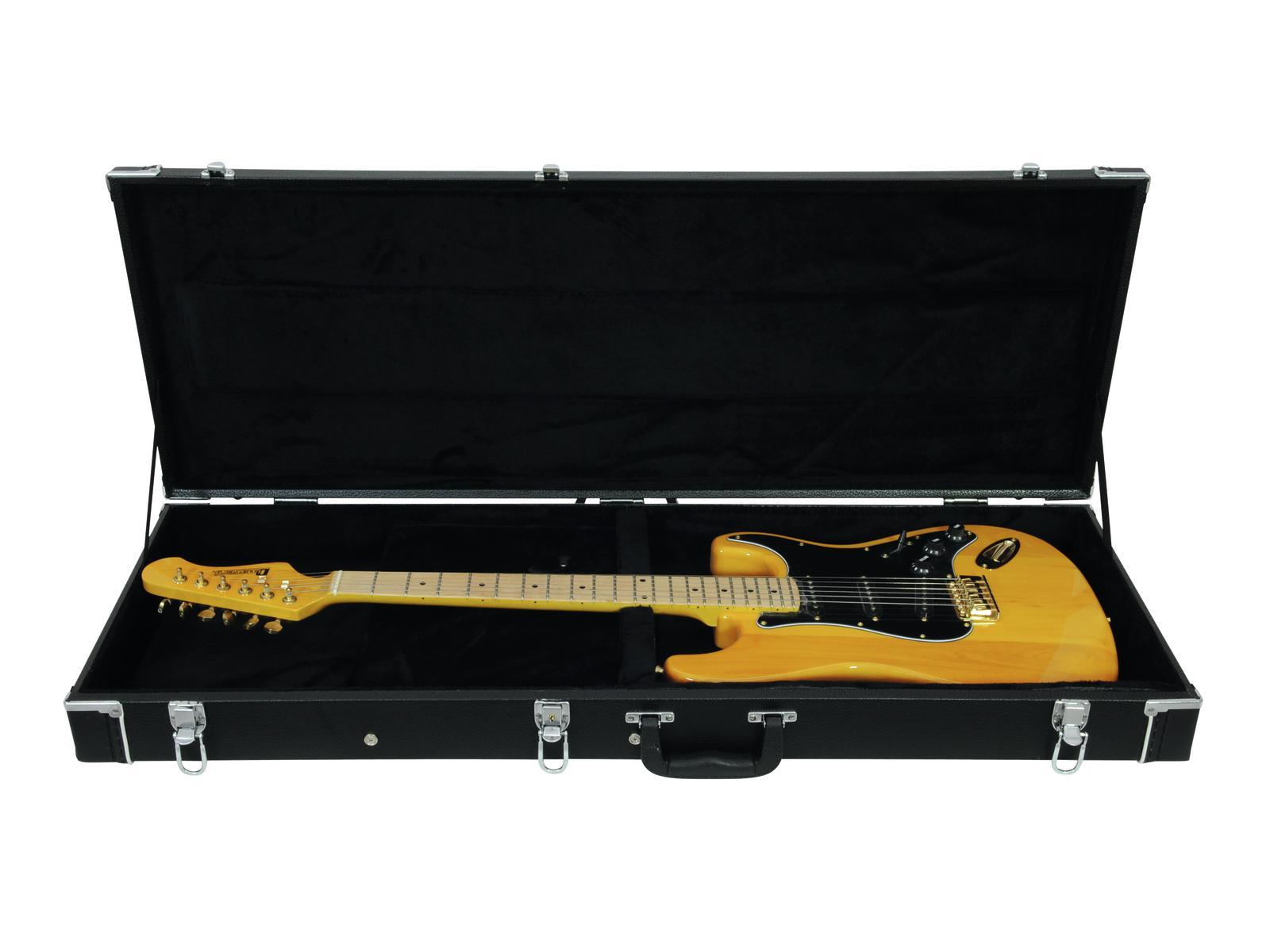 DIMAVERY Flight case in Legno Rettangolare per chitarra elettrica
