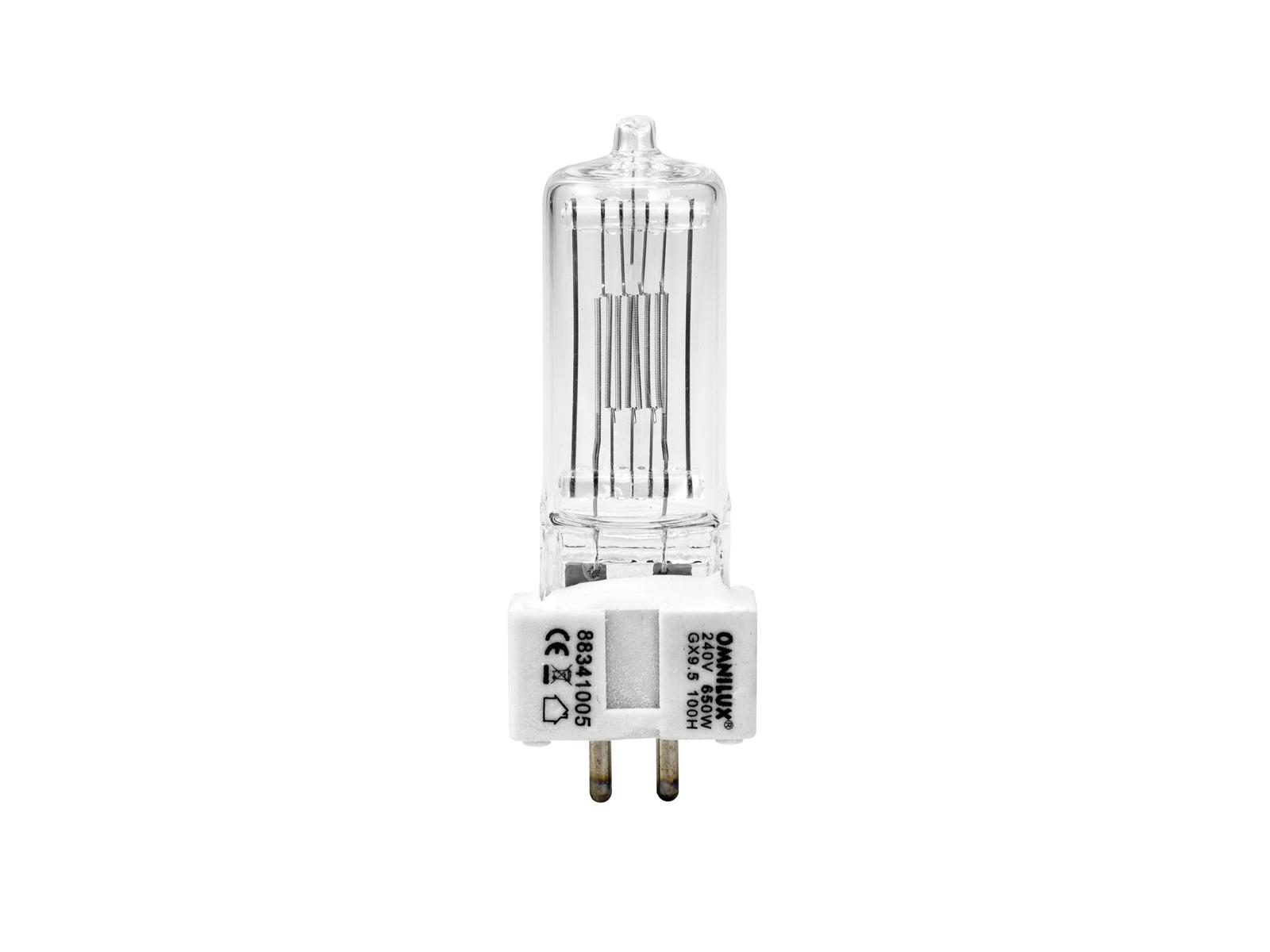 Lampada Lampadina OMNILUX 240V/GX 650W Attacco 9.5 100h 3200K
