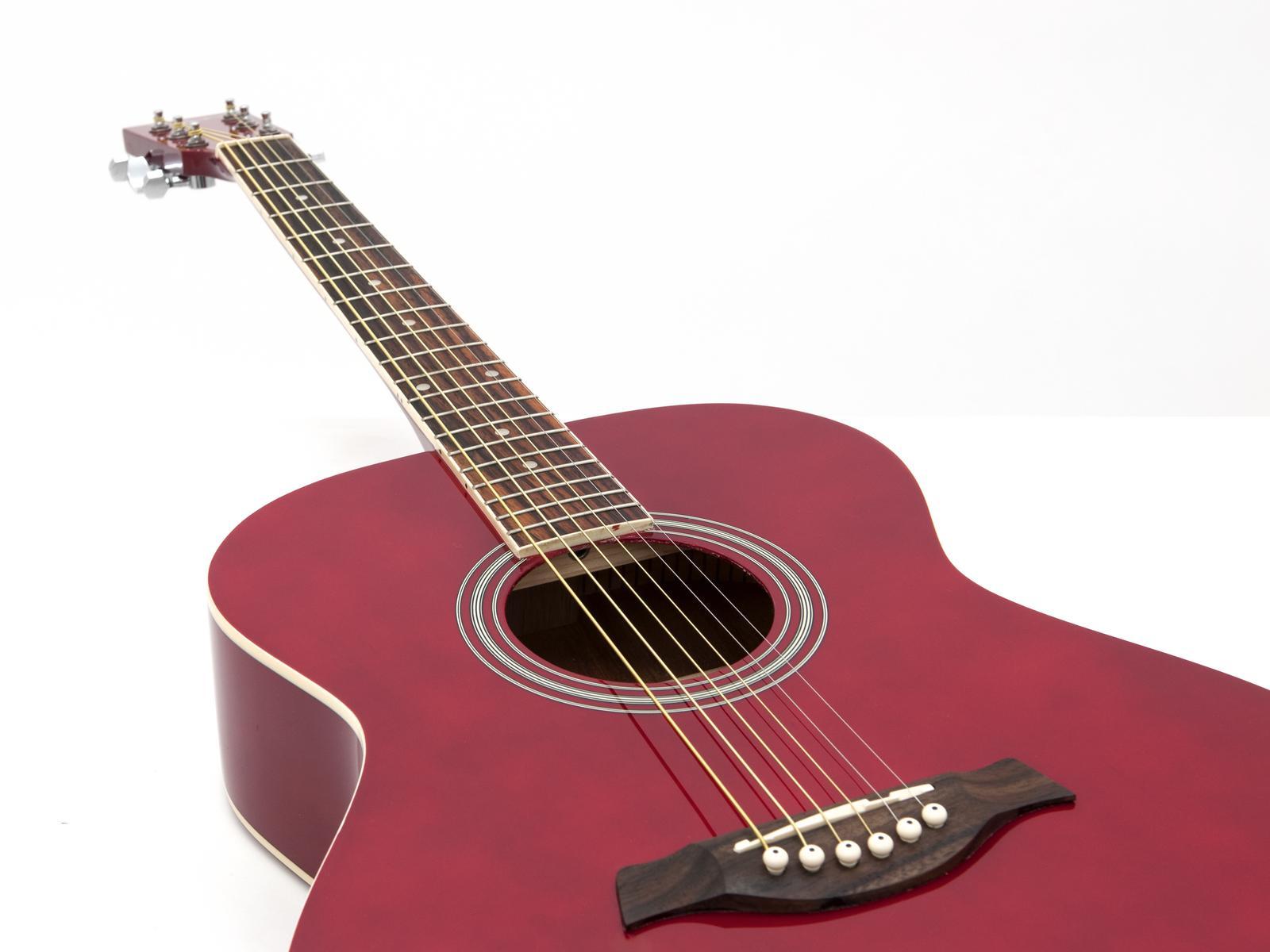 Chitarra acustica rossa DIMAVERY AW-303