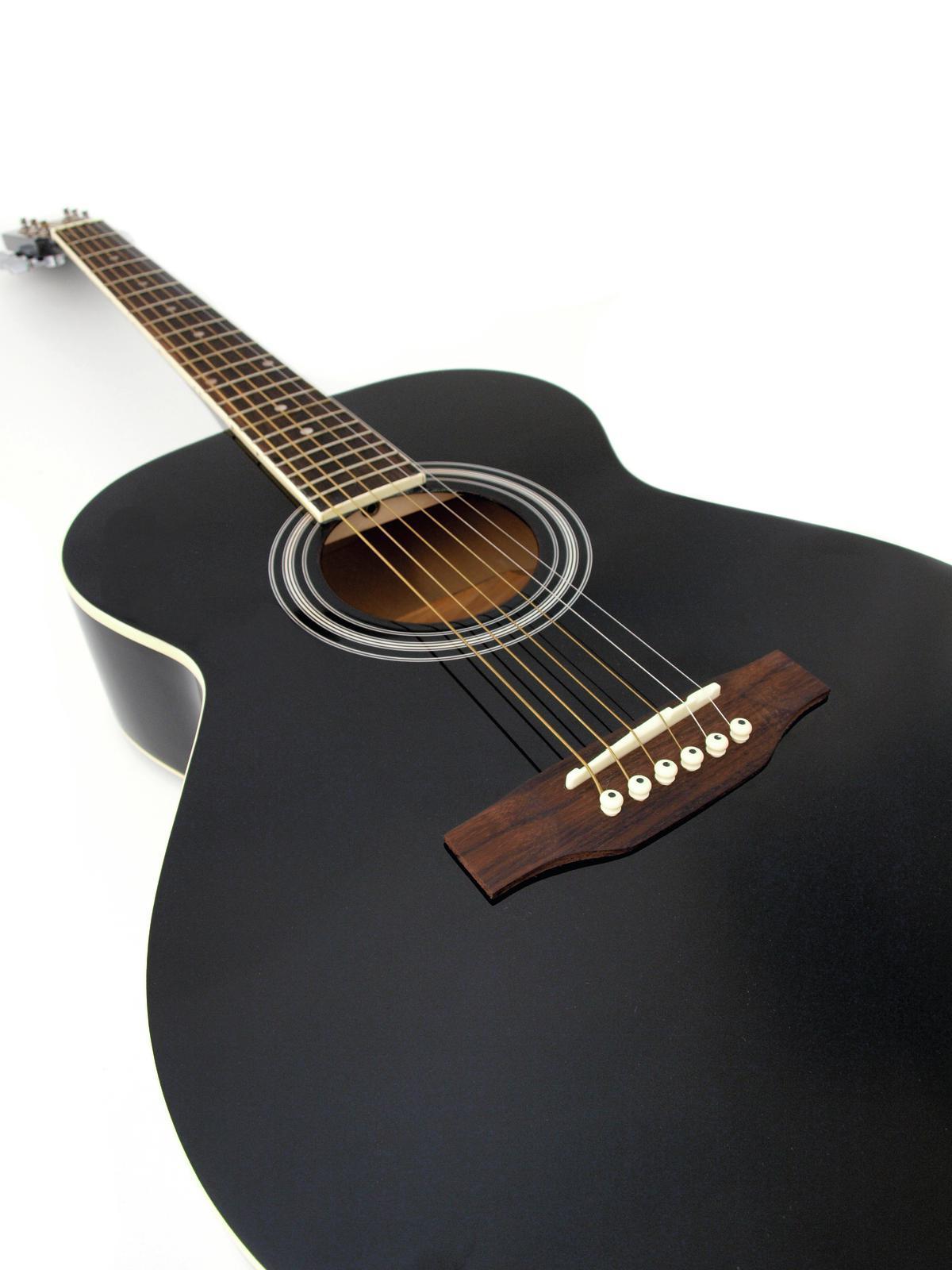 DIMAVERY AW-Occidentale 303 chitarra nera