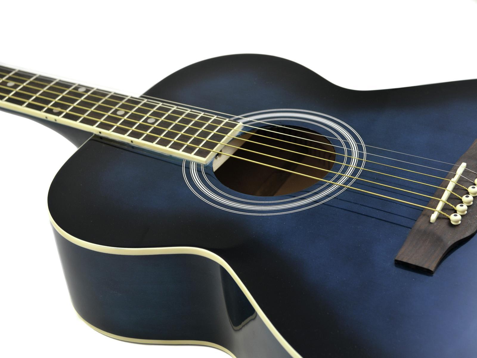 Chitarra acustica, western, colore blueburst, acero, DIMAVERY AW-303