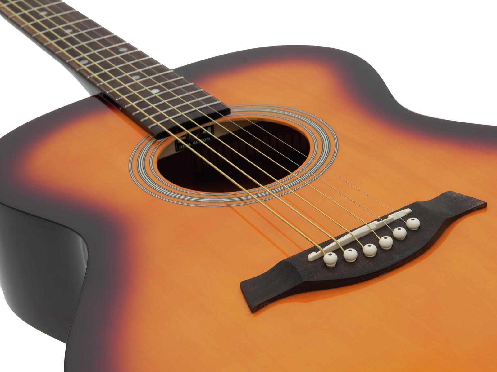 Chitarra acustica, western, colore sunburst, acero, DIMAVERY AW-303
