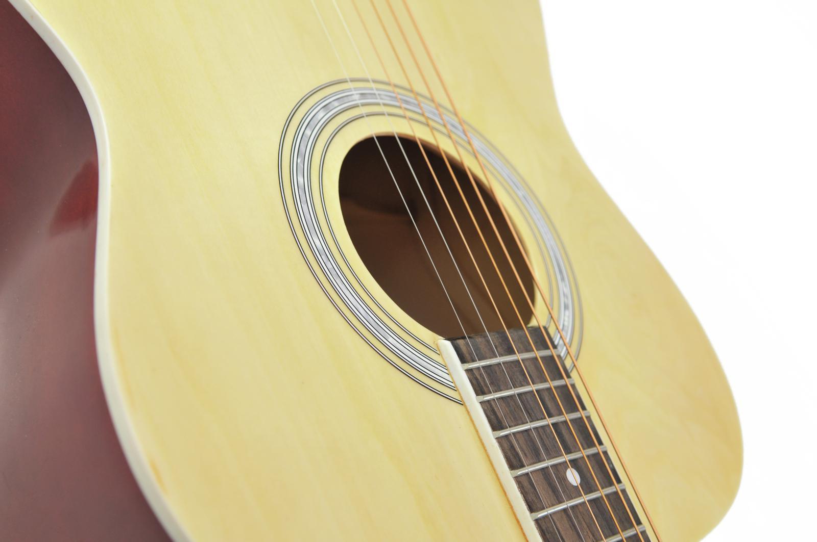 Chitarra acustica, western, colore natura, acero, DIMAVERY AW-303