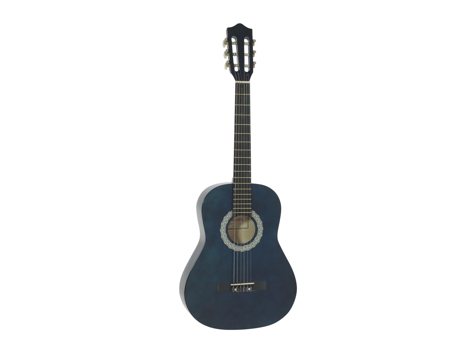 DIMAVERY AC-303 Klassikgitarre 3/4, blau