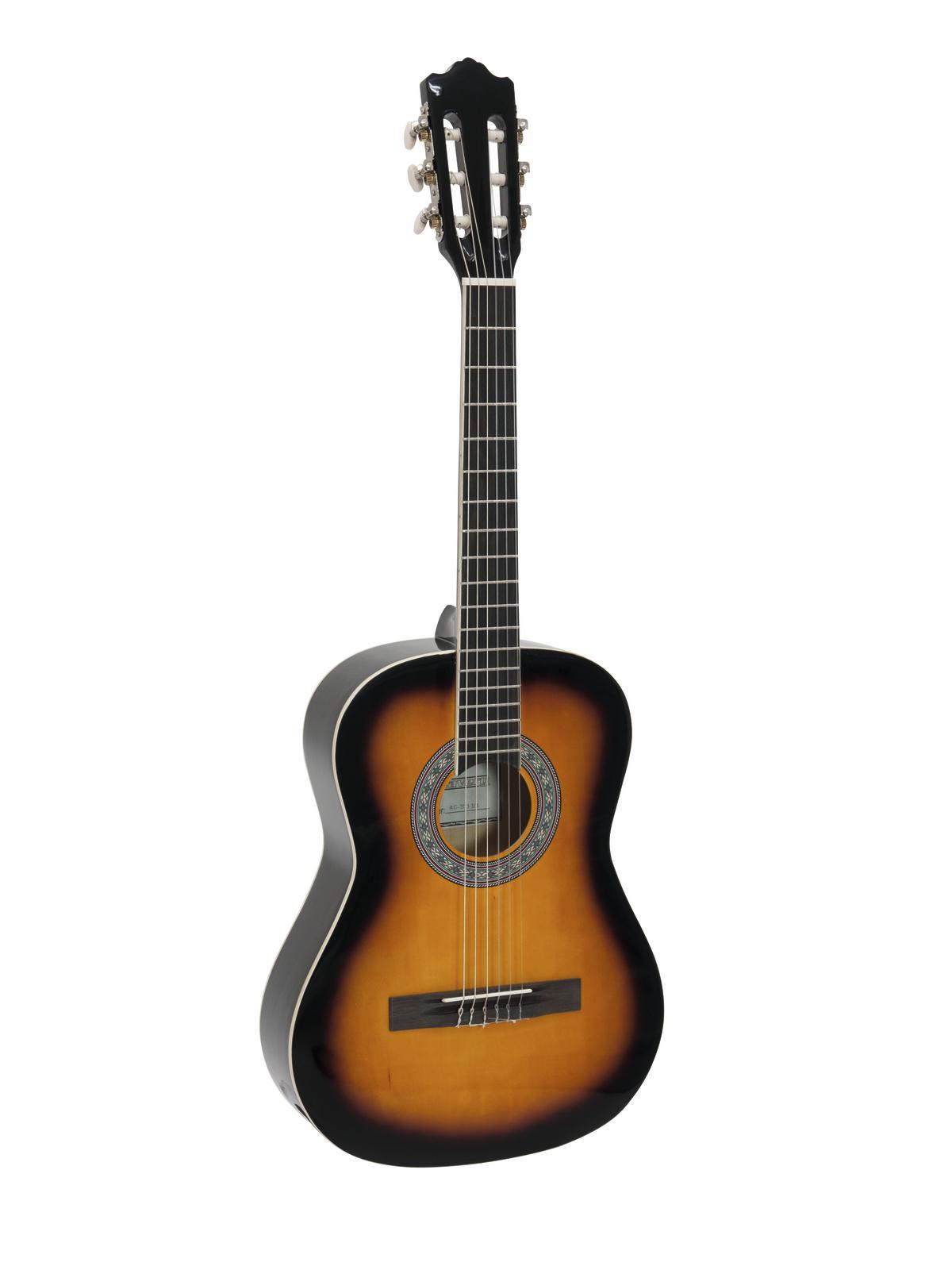 DIMAVERY AC-303 Klassikgitarre 3/4 sunburst
