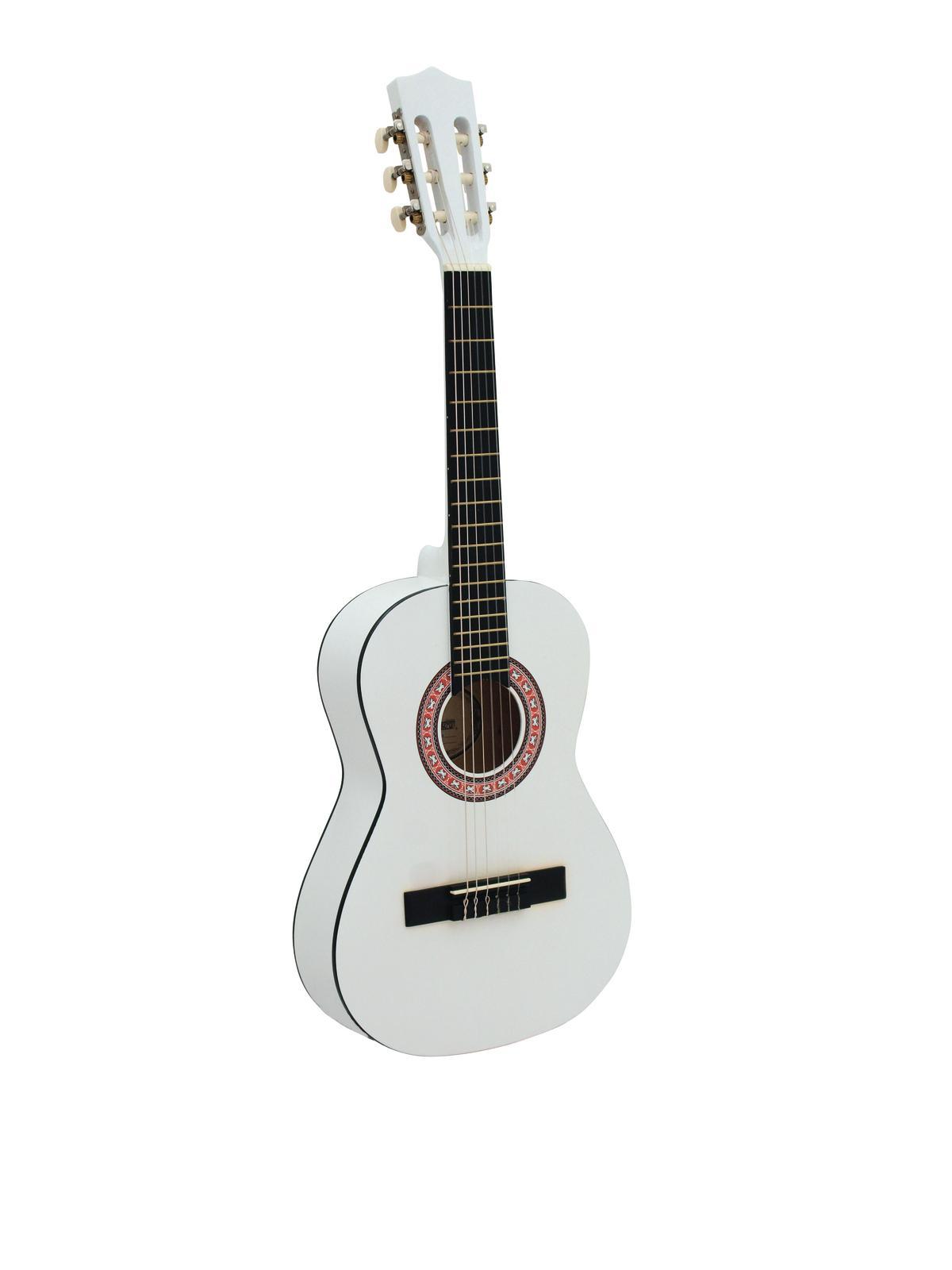 DIMAVERY AC-303 Klassikgitarre 1/2, weiß