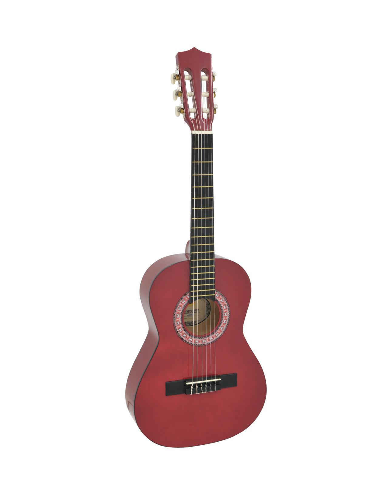DIMAVERY AC-303 Klassikgitarre 1/2, rot