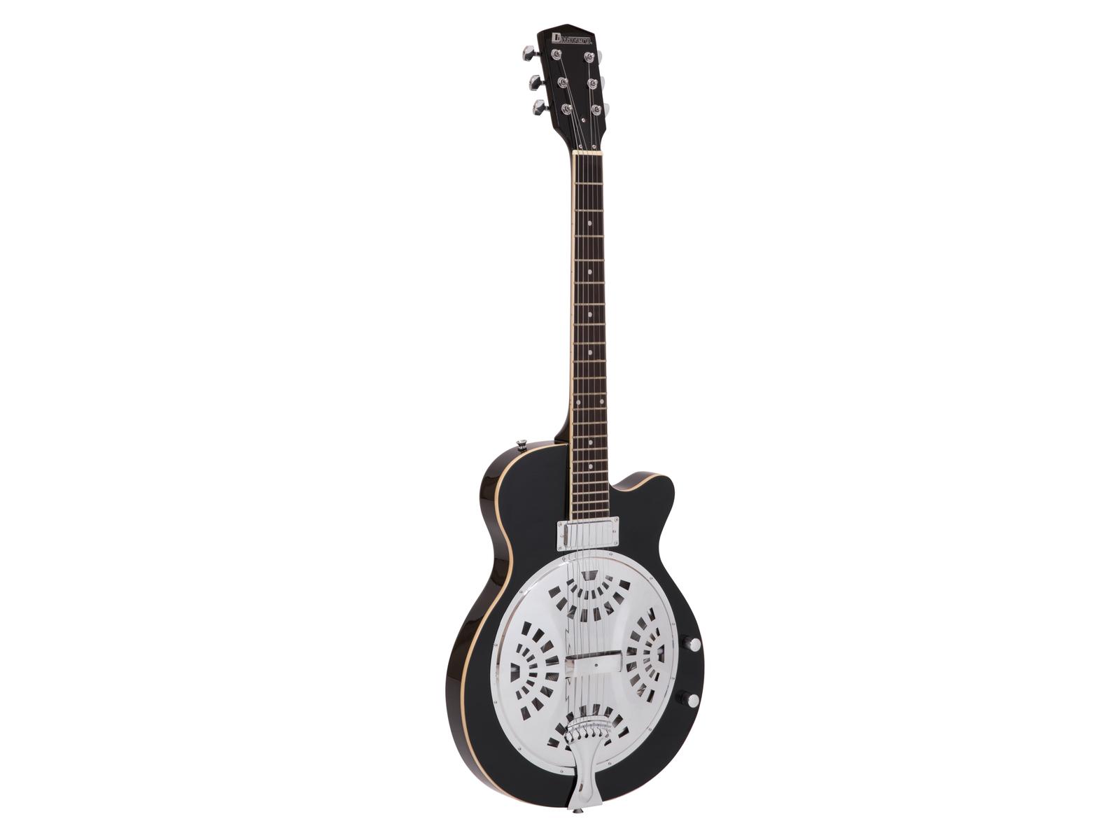Chitarra acustica, colore nero, spala mancante, abete, DIMAVERY RS-420