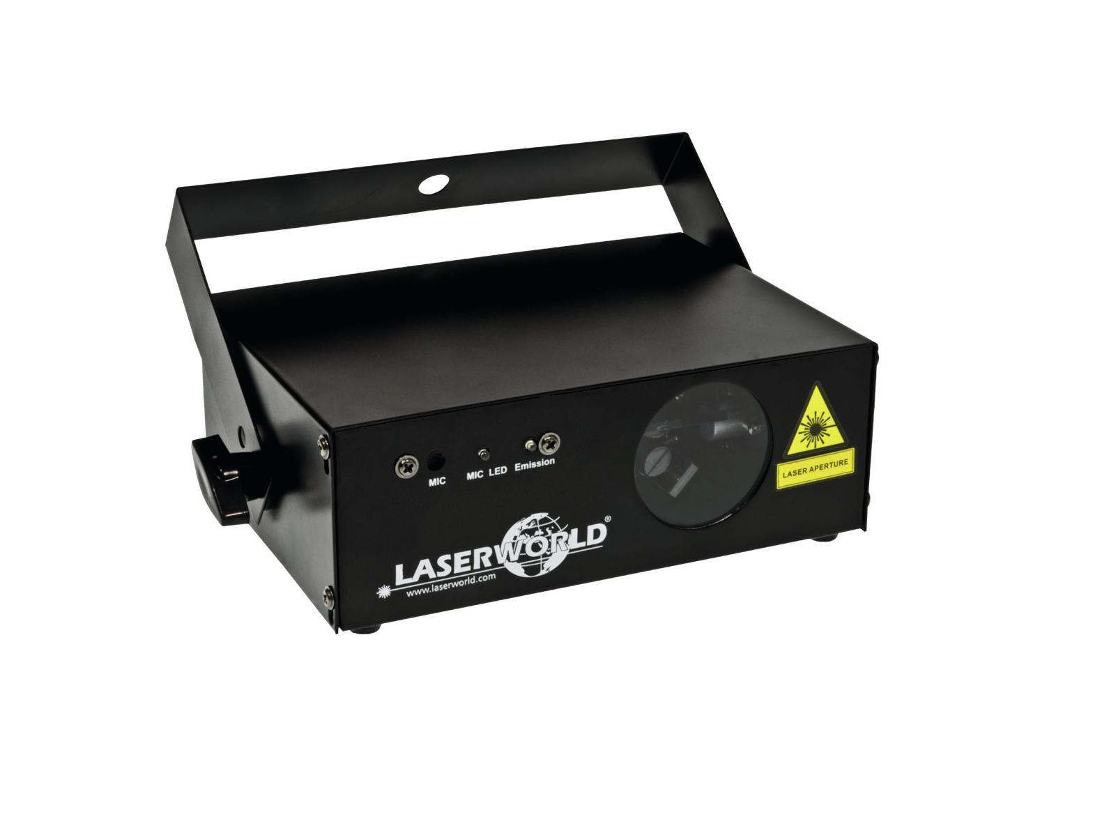 Effetto luce LASER Luce Rossa WORLD EL-120R MKII Eurolite 120 mega watt