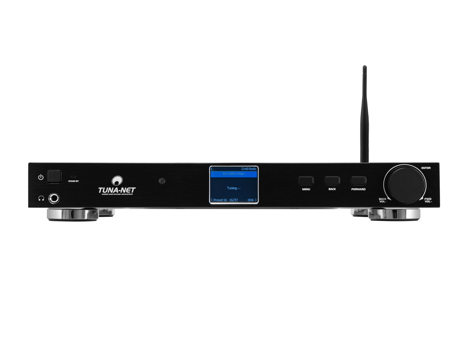 OMNITRONIC TUNA-NET 19 Internetradio mit DAB+ und Bluetooth