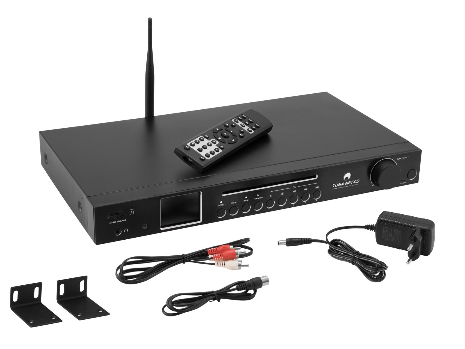 OMNITRONIC TUNA-NET-CD 19 Internetradio mit DAB+, Bluetooth und CD-Player