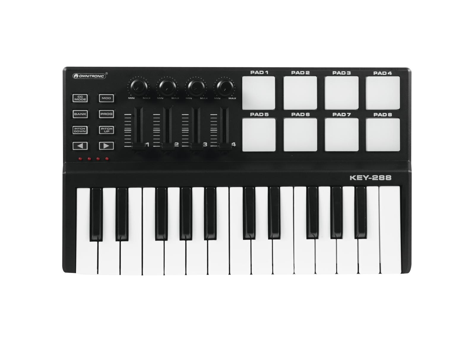 USB MIDI Controller for producing music for dj-pc mac OMNITRONIC key-288