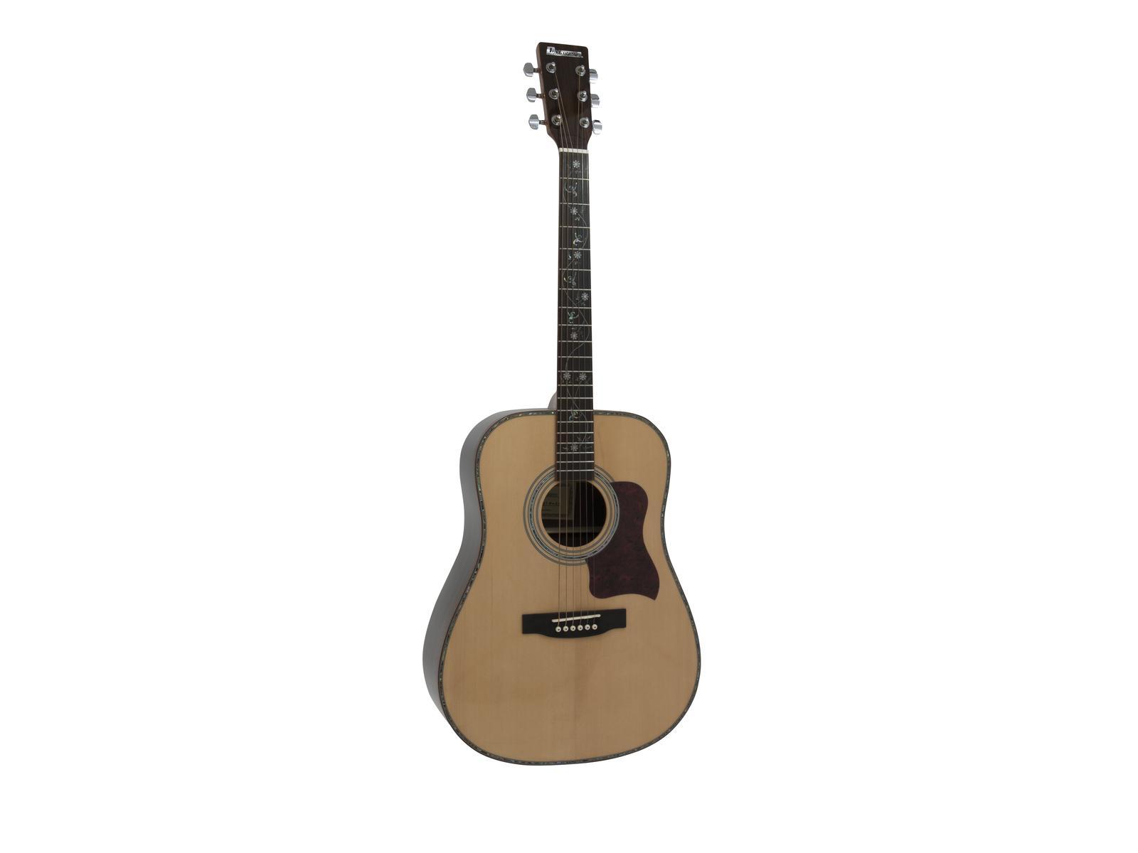 Chitarra acustica, western, colore nature, abete solido, DIMAVERY STW-20