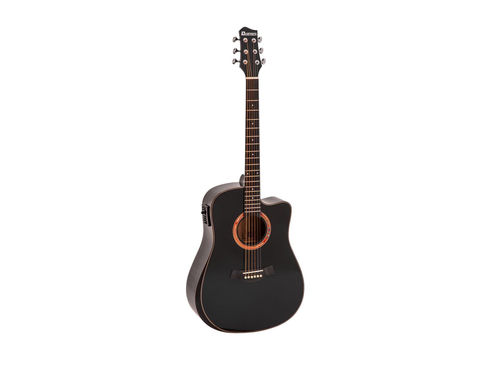 DIMAVERY ASW-60 Grande Westerngitarre, schwarz