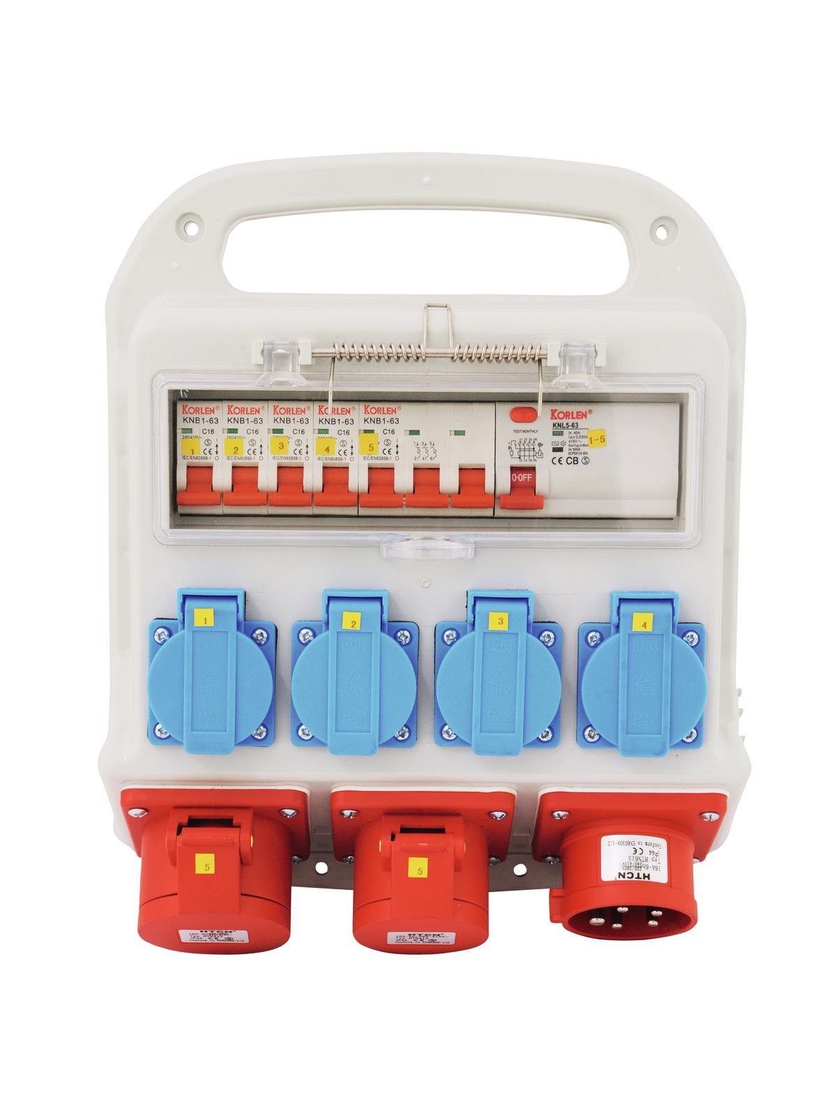 Power distributor rack 2 x 16A EEC , 4 x 230V EUROLITE SBP-1610