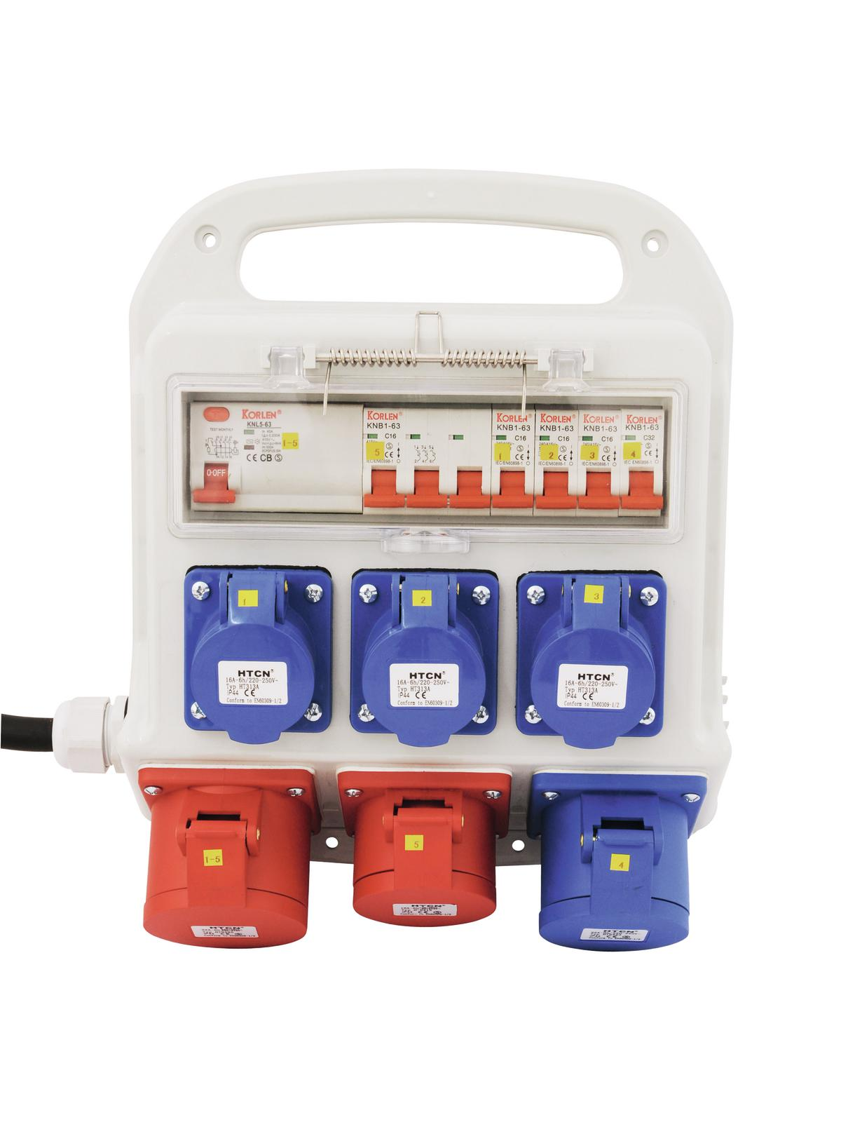 Power distributor rack EEC EUROLITE 3x 32A, 1x16A, 3x230V SBP-3210K