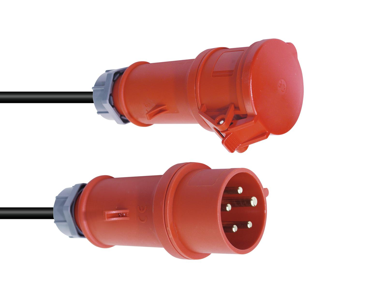 Extension PSSO CEE 16A 5x2,5 15 RED PlugA M PlugB F Cable, H07RN G2.5