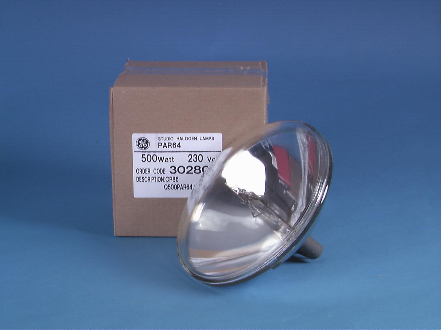 Lampada Faro GE CP86 PAR-64/240V 500W VNSP 300h 3200 K